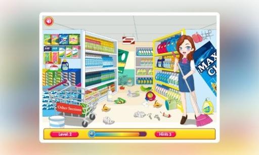 打扫超市卫生
