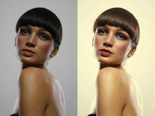 之前和之后的Photoshop