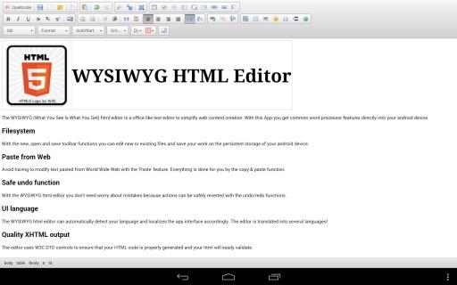 WYSIWYG HTML Editor截图1