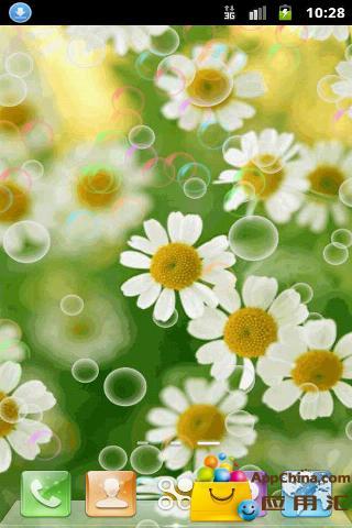 花朵泡泡动态壁纸