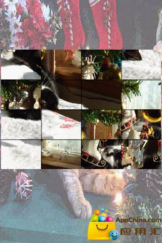 圣诞猫拼图
