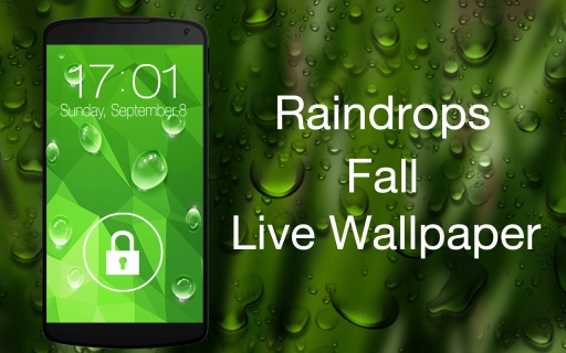 手机屏幕下雨了