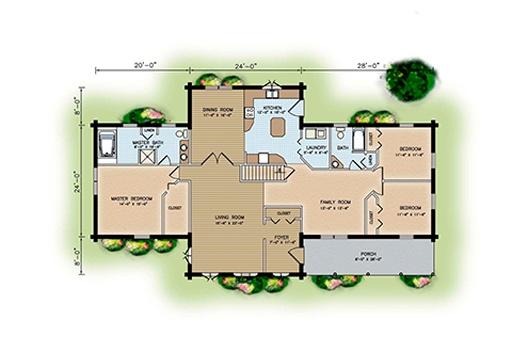 房子楼层平面图