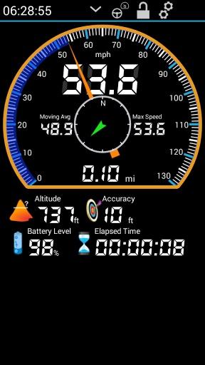 GPS HUD (抬头显示) 车速表 免費版