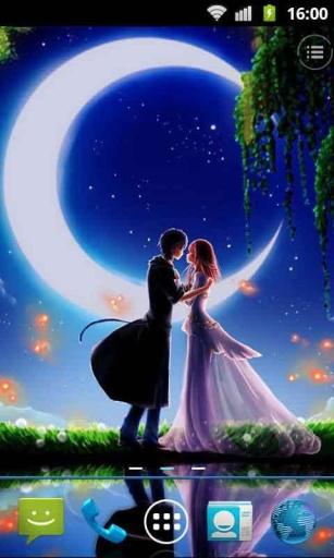 月夜浪漫动态壁纸
