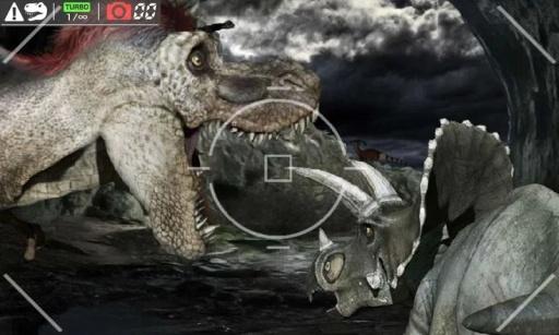 给恐龙拍照