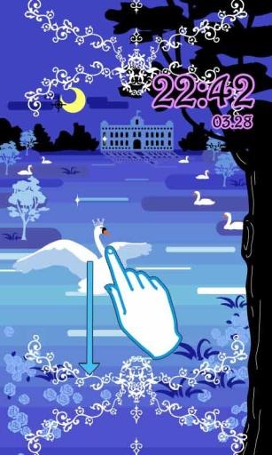 梦幻天鹅湖主题(锁屏桌面壁纸)截图0