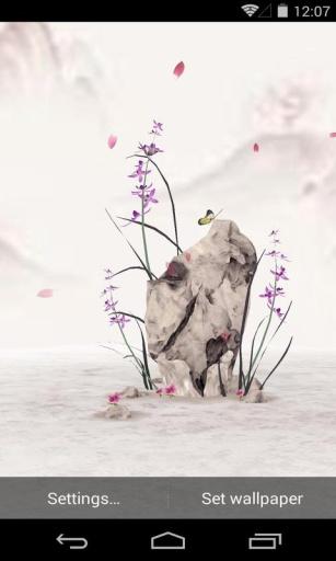 3D水墨兰花 梦象动态壁纸 14