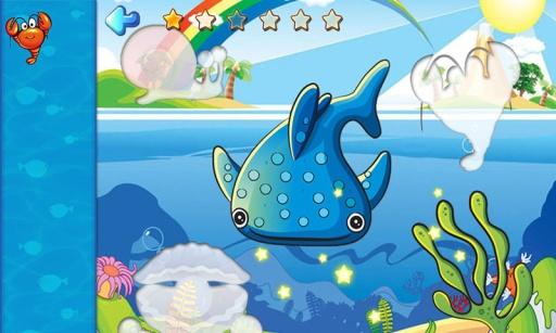 儿童海洋动物拼图游戏,宝宝识动物学英语,开发智力截图0