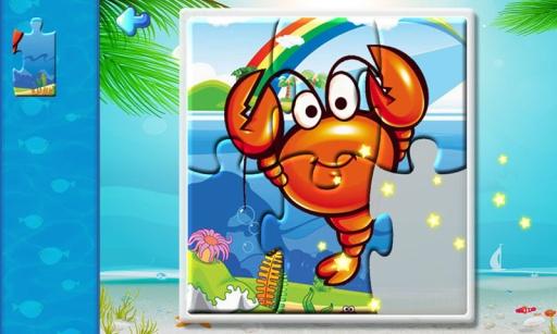 儿童海洋动物拼图游戏,宝宝识动物学英语,开发智力截图3