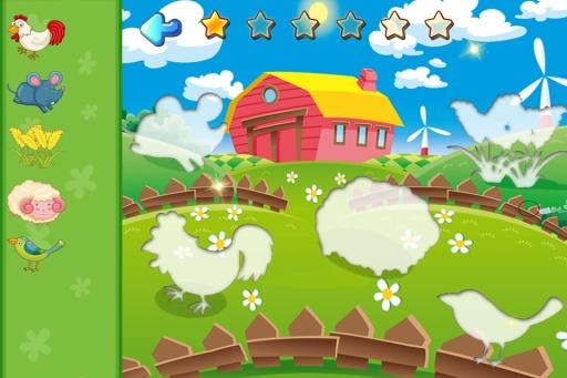 儿童圣诞节拼图游戏,宝宝识物学英语截图2