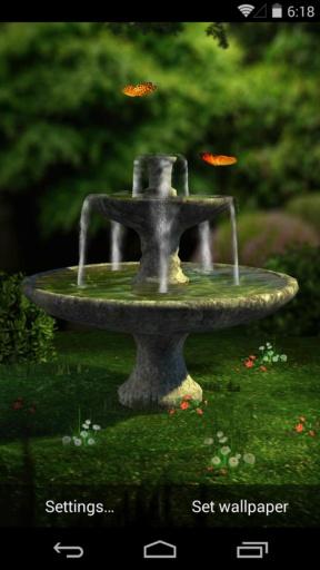 3D花园喷泉-梦象静态壁纸