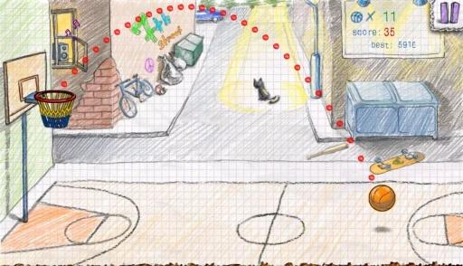 涂鸦篮球2截图1
