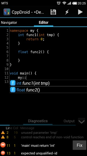 C/C++安卓IDE:CppDroid截图1