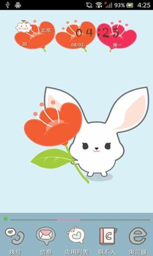 萌萌小白兔-壁纸主题桌面美化