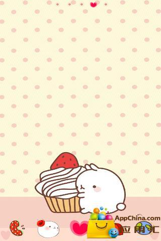 GO主题—冰激凌兔子截图0