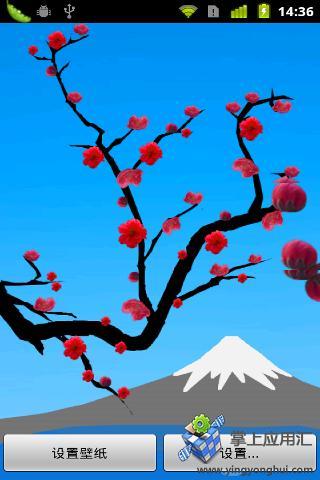 可爱的红色樱花动态壁纸