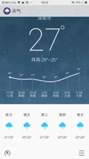 flyme天气