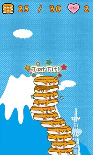 可爱的煎饼热火腿塔