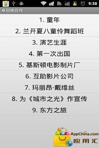 【免費書籍App】卓别林自传-APP點子