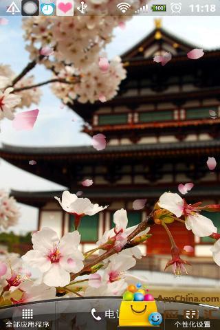 古城樱花动态壁纸