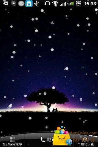 飘雪的星空动态壁纸