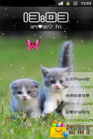 萌宠主题iphone解锁