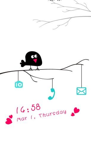 爱情鸟主题(桌面锁屏壁纸)截图2