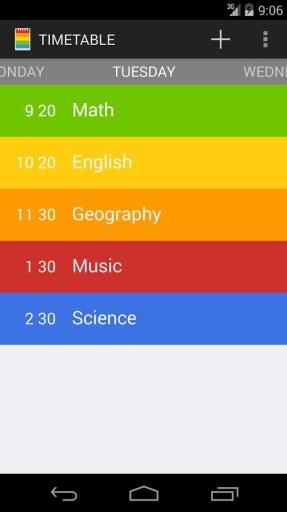 彩虹课程表:Class