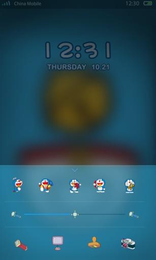 哆啦A梦-闪电锁屏主题截图3