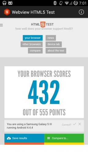 WebView HTML5 Test