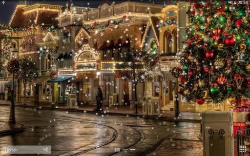 浪漫冬季城市雪夜景免费动态壁纸