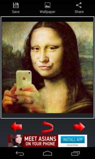 搞笑和疯狂selfies图像