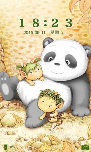 可爱小熊猫-91桌面主题壁纸美化截图3