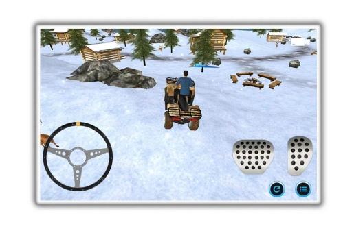 雪地车停车的冒险截图1