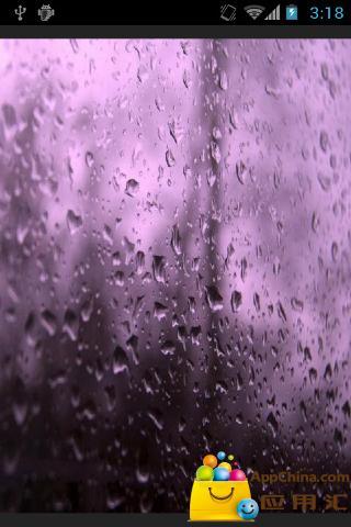 玻璃雨滴壁纸v1.0.10_主题插件