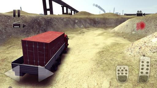 卡车司机疯狂的道路
