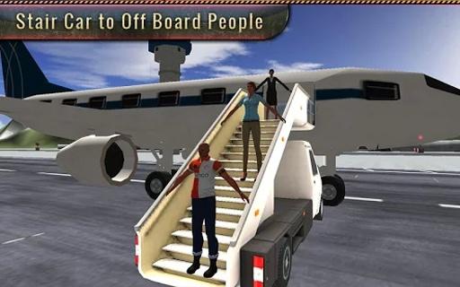 机场飞机地勤人员的3D截图4