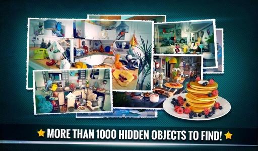 隐藏的对象 - 清洁杂乱的厨房