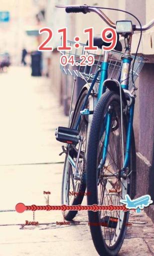 单车恋人主题(桌面锁屏壁纸)截图2