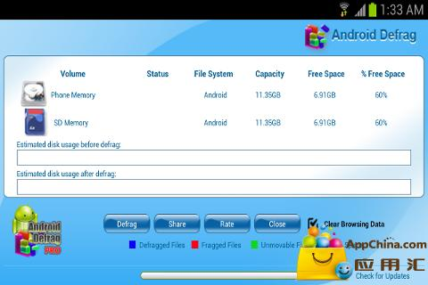 ANDROID DEFRAG FREE
