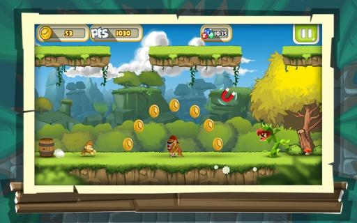 丛林猴子跑酷游戏 - 游戏酷跑截图1
