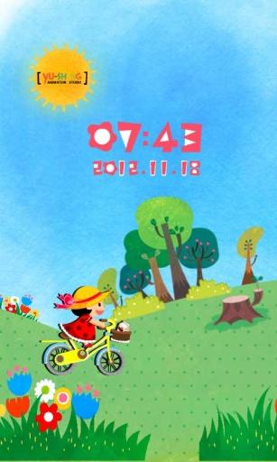 爱心脚踏车主题(桌面锁屏壁纸)截图1