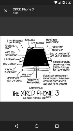 第三方XKCD阅读器Blip截图1