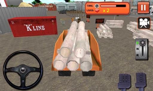 城市挖掘机起重机模拟器截图0