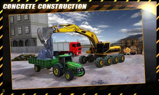 混凝土挖掘机拖拉机辛截图5
