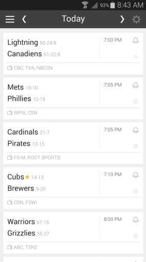 Live Game Updates MLB NFL NBA截图2
