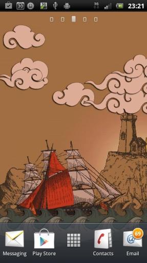 剪纸航海动态壁纸:PaperSea截图1