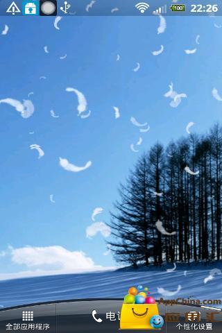 唯美雪景动态壁纸截图2
