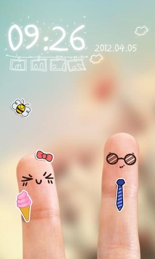 指尖上的爱情主题(锁屏桌面壁纸)